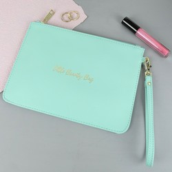 'Little Beauty Bag' Clutch Bag in Green
