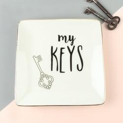 'My Keys' Ceramic Trinket Dish