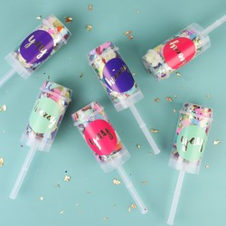 Oh So Pretty Set of 6 Confetti Push Pops