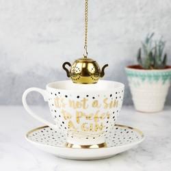 Polka Dot Tea Cup and Infuser Set