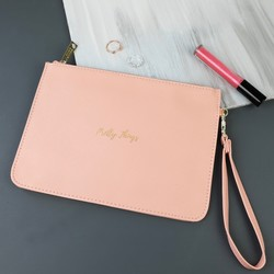 'Pretty Things' Clutch Bag in Coral