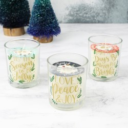Set of 3 Mini Festive Scented Candles