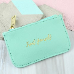 'Treat Yourself ' Coin Purse in Green