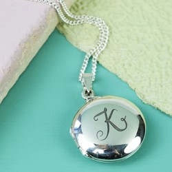 Personalised Sterling Silver Circle Locket