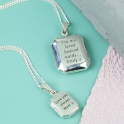 Personalised Sterling Silver Rectangle Locket