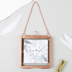 Small Square Hanging Copper Photo Frame