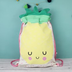 House of Disaster Hi-Kawaii Pineapple Drawstring Backpack
