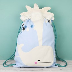 House of Disaster Hi-Kawaii Whale Drawstring Backpack