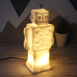 House of Disaster White Robot Night Light