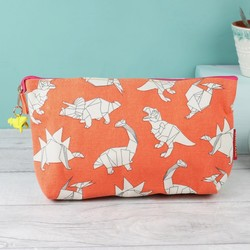 House of Disaster Origami Dinosaur Make Up Bag