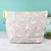 House of Disaster Origami Dinosaur Wash Bag