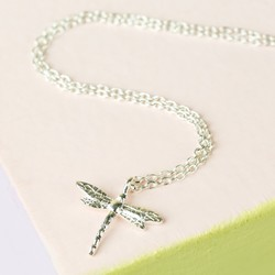 Estella Bartlett Silver Dragonfly Necklace