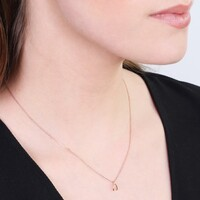 Estella Bartlett Rose Gold Mini Wishbone Necklace