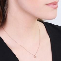 Estella Bartlett Rose Gold Mini Wishbone Necklace