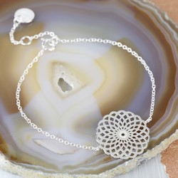 Sterling Silver Chakra Mandala Bracelet