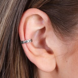 Sterling Silver Leaf Ear Cuff