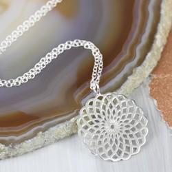 Sterling Silver Chakra Mandala Necklace