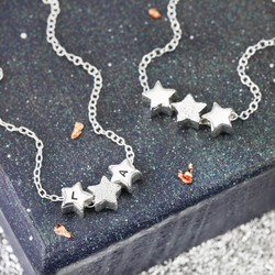 Sterling Silver Sparkly Little Star Necklace