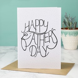 'Happy Father's Day' Typography Card
