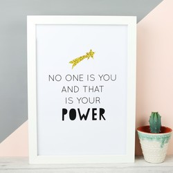 'No One is You' A4 Typography Print