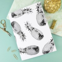 Monochrome Pineapple A5 Notebook