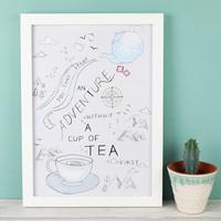 'Start an Adventure' A4 Typography Print