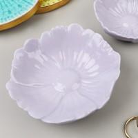 Large Purple Flower Trinket Dish