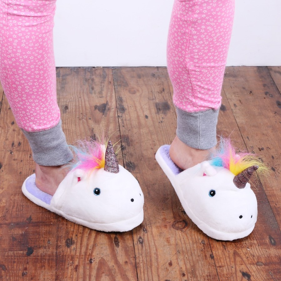 Unicorn Slippers Quirky Gift Ideas Lisa Angel Accessories