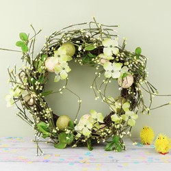 English Meadow Easter Egg Wreath