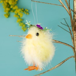 Flower Crown Easter Chick