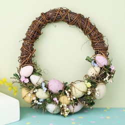 Pastel Easter Egg Feature Wreath
