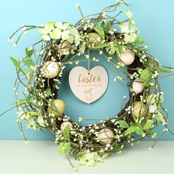 Personalised English Meadow Easter Egg Wreath