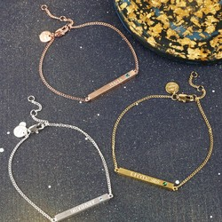 Personalised Swarovski Birthstone Bar Bracelet