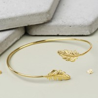 Gold Feather Bangle