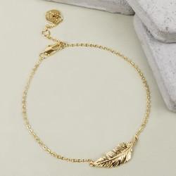 Gold Feather Bracelet