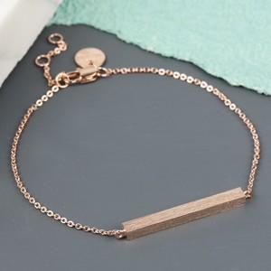 Horizontal Bar Bracelet In Rose Gold