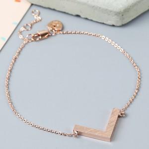 Rose Gold Chevron Bracelet