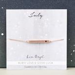 Swarovski Birthstone Bar Bracelet in Rose Gold