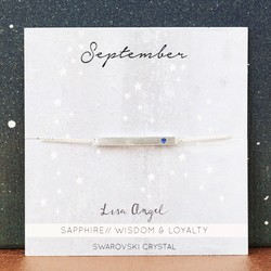 Swarovski Birthstone Bar Bracelet in Silver