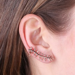 Rose Gold Fern Leaf Ear Cuff