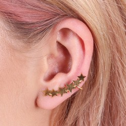 Single Gold Star Ear Cuff