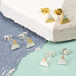 Lisa Angel Dipped Triangle Stud Earrings