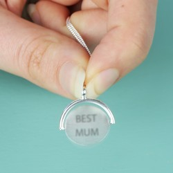 Engraved 'Best Mum' Spinning Disc Necklace