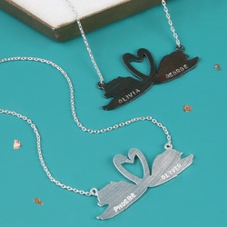 Personalised Brushed Swan Necklace