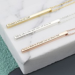 Personalised Shiny Bar Necklace