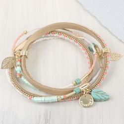 Personalised Beaded Festival Wrap Bracelet