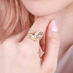 Lucky Cat Ring in Gold