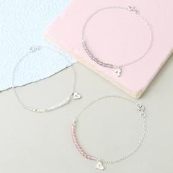 Handmade Sterling Silver and Swarovski Crystal Bead Bracelet