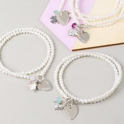 Personalised Seed Pearl Wrap Bracelet