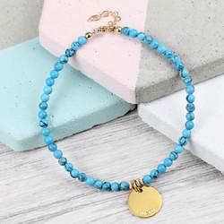 Personalised Delicate Turquoise Bracelet